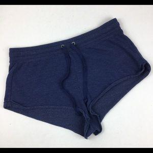 Aerie Blue drawstring sleep pajama shorts